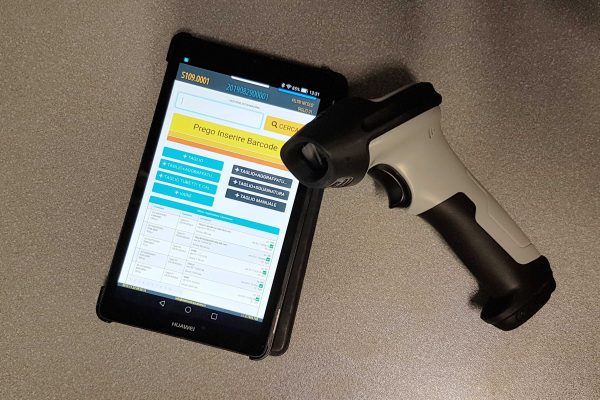 tablet e lettore codici a barre